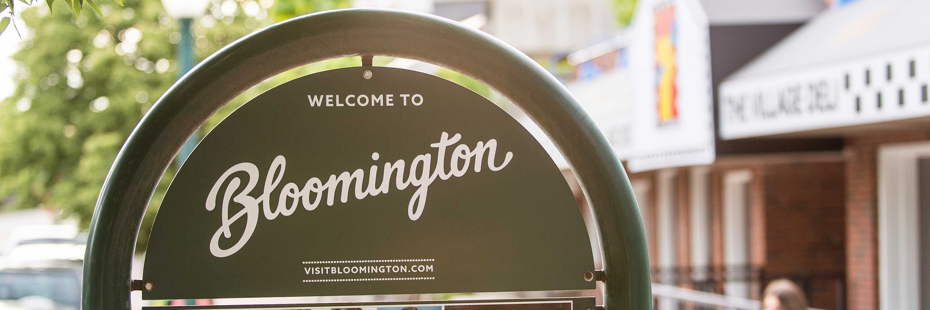 Bloomington's city visitor signs